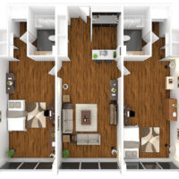 2 bed 2 bath - full